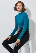 Superbalist - Long sleeve high neck bodysuit - blue