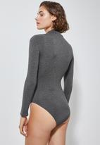Superbalist - Long sleeve high neck bodysuit - grey