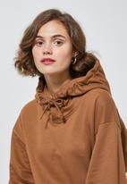 Superbalist - Hooded sweat dress - brown