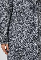 Superbalist - Unlined oversized coat - black & white