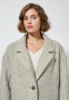 Superbalist - Unlined oversized coat - grey & cream