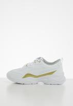 PUMA - Cilia patent ps Puma - white & gold