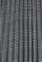 Superbalist - Pleated skirt - black & white