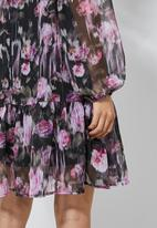 Superbalist - Dropped waist dress - diffused rose floral