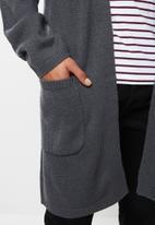 Brave Soul - Fieldb knitwear cardi - grey