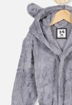Cotton On - Boys hooded gown - grey