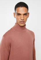Brave Soul - Humeo polo neck knitwear - pink