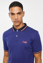 Superdry. - Classic lite micro sports polo - blue