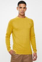 Superdry. - Orange label cotton crew sweater - yellow