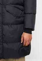 Brave Soul - Marvel longine puffer jacket - black