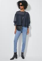 Superbalist - Double layer hi lo blouse - navy