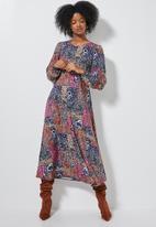 Superbalist - Midi tea dress long sleeve - multi