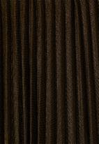 Superbalist - Metallic pleated skirt - bronze