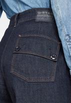 G-Star RAW - Eyevi high waist wide leg ankle - dark blue