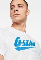 G-Star RAW - Fast raglan graphic tee - white