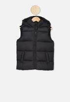 Cotton On - Billie puffer vest - black