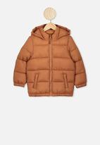 Cotton On - Frankie puffer jacket - brown