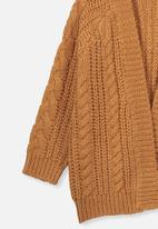 Cotton On - Cooper cardigan - amber brown