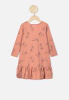 Cotton On - Joss long sleeve dress - dust storm