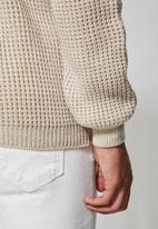 Superbalist - Chunky textured roll neck knit - neutral