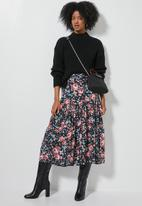 Superbalist - Tiered midi skirt - multi