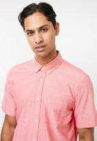 Cotton On - Vintage prep short sleeve shirt - pink