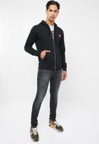Diesel  - Brandon zip through sweat hoodie - black