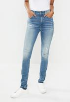 G-Star RAW - Kafey ultra high ripped skinny - blue
