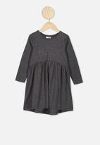 Cotton On - Freya long sleeve dress - black