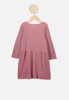 Cotton On - Freya long sleeve dress - pink
