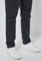 Superbalist - Tapered leg dungaree - black