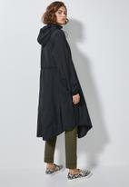 Superbalist - Longer length waterproof anorak - black