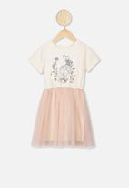 Cotton On - Vivienne dress up dress - cream & peach