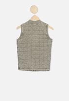 Cotton On - Quilted bomber vest - khaki