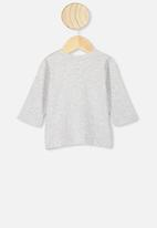 Cotton On - Jamie long sleeve tee - grey honey bunny