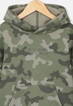 Cotton On - Horizon hoodie - green