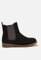 Cotton On - Scallop gusset boot - black