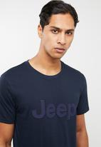 JEEP - Large logo short sleeve tee - navy