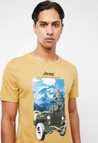 JEEP - Motor short sleeve tee - ochre