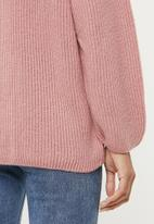 edit - Raglan rib jumper - pink