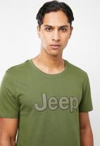 JEEP - Large logo short sleeve tee - fatigue