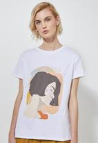 Superbalist - Printed tee - white