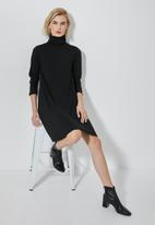 Superbalist - Cut & sew tunic dress - black