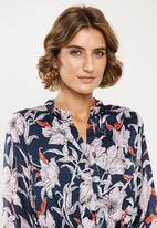 Jacqueline de Yong - Yeremaiah long sleeve dress - multi