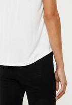edit - 2pack basic scoop neck tee - white & black