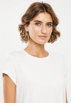 edit - 2pack basic scoop neck tee - white & navy