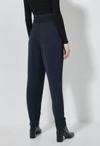 Superbalist - Paperbag trousers - navy