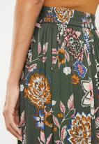 Jacqueline de Yong - Mandi midi skirt - green
