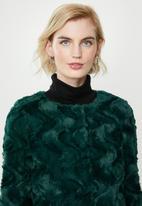 Vero Moda - Curl short faux fur jacket - ponderosa pine