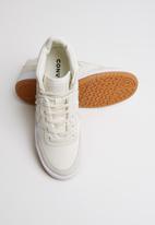 Converse - Ctas fast break summer textile mid y  - egret/white